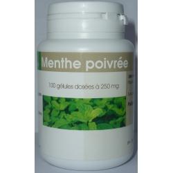 Menthe Poivrée 250 mg x 100 gélules