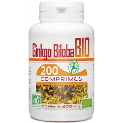 Ginkgo Biloba Bio - 300 mg x 200 comprimés