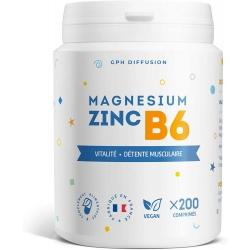 Magnésium Zinc B6 - 200 comprimés