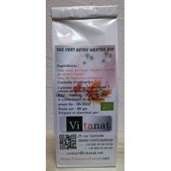 Thé vert Detox Menthe BIO - 50 g
