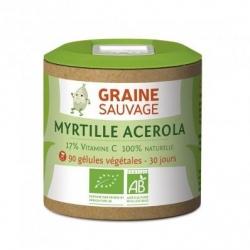 Myrtille Acerola - 90 gélules végétales
