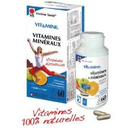 Vit&Mine - Vitamines et minéraux - 60 gél