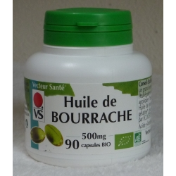Huile de Bourrache - 500 mg x 90 capsules