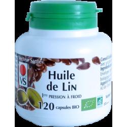 Huile de Lin Bio - 270 mg x 120 capsules