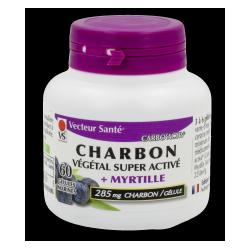 Carbo'activ Myrtille - 60 gélules x 285 mg - charbon super activé